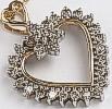9ct Gold Diamond set Pendants
