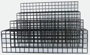 Tiered Wire Mesh Display Stand 3 tier Platform Step Displays