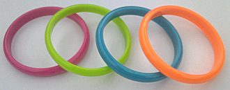 Coloured Plastic Bangles - 10mm (Pack of 12)
