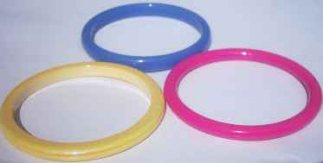Hard Plastic Bangle - 7mm (pack of 12)