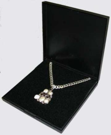 Large Necklace Box Black Plastic Quality Presentation Box