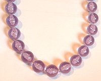 Large Purple Beads 760mm Necklace