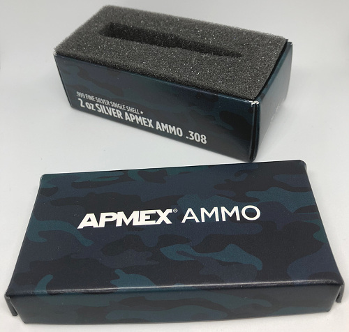 Box for 2oz Silver  308 Bullet Ammo