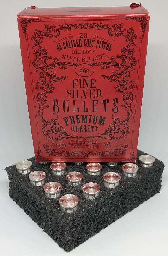 Red Ammo Box for 1oz Silver Bullets