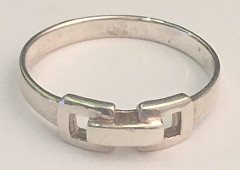 Buckle style Sterling Silver Ring