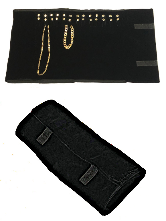Large Chain Wrap Jewellery Storage Roll with tabs 780mm size