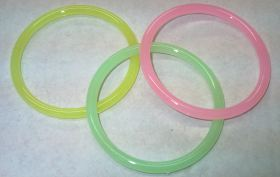 Hard Plastic Childs Bangles - 5mm (pack of 12)