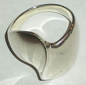 Contemporary Wave Silver Ring