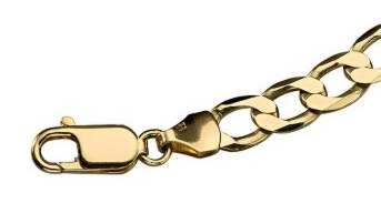 9 carat Gold Curb Bracelet 6mm gauge