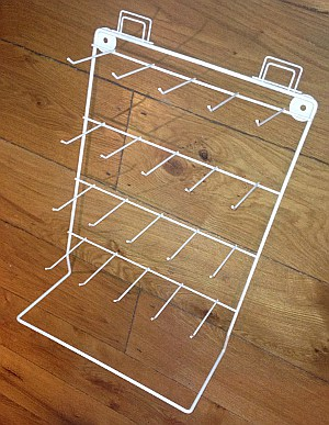Large Counter Metal Display Stand with Stock Hooks
