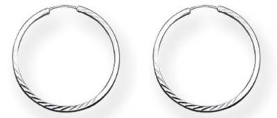 Sterling Silver Diamond Cut Hoops 18mm (pair)