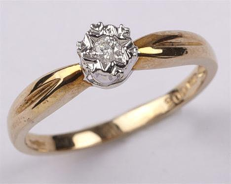 carat Gold Diamond Solitaire Ring