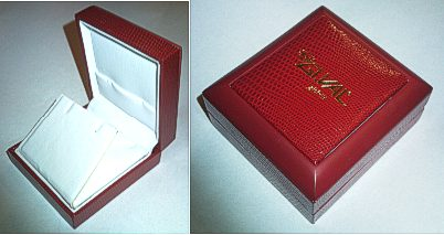 Red Textured finish Necklace or Earring Stud Box 58x52x30