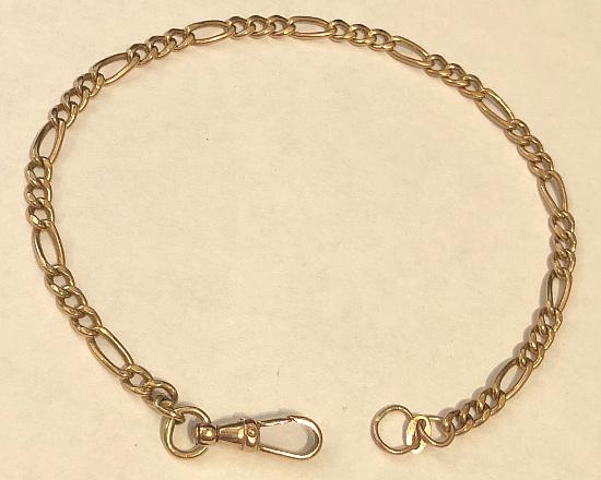 9 carat Gold Figaro Bracelet 4mm x 220mm