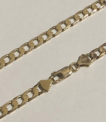 9 carat Gold Curb Chain 5mm Wide 16inch