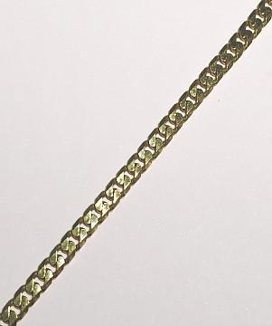 Extra Long 28inch 9 carat Gold Diamond Cut Curb Chain 710mm x 3.5mm