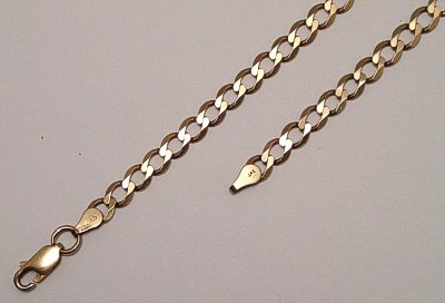9ct Gold Wide Open Link Curb Chain 460mm x 5mm