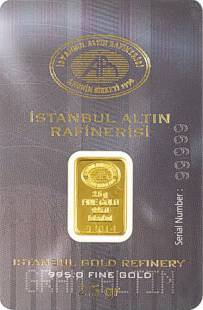 2.5g Gold Bullion Bar .995 Fine Gold