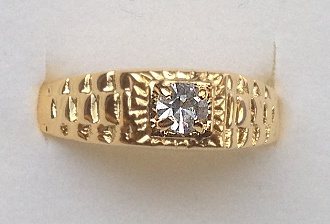 Gold plated Clear stone set Ring