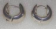 Sterling Silver Flow Hinged Hoops 16mm