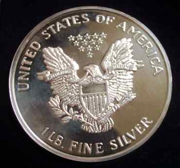 1 lb troy FINE .999 SILVER BULLION round EAGLE COPY