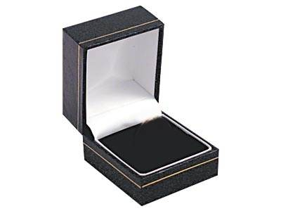 Leatherette Ring Gift Box Black 50x44x36