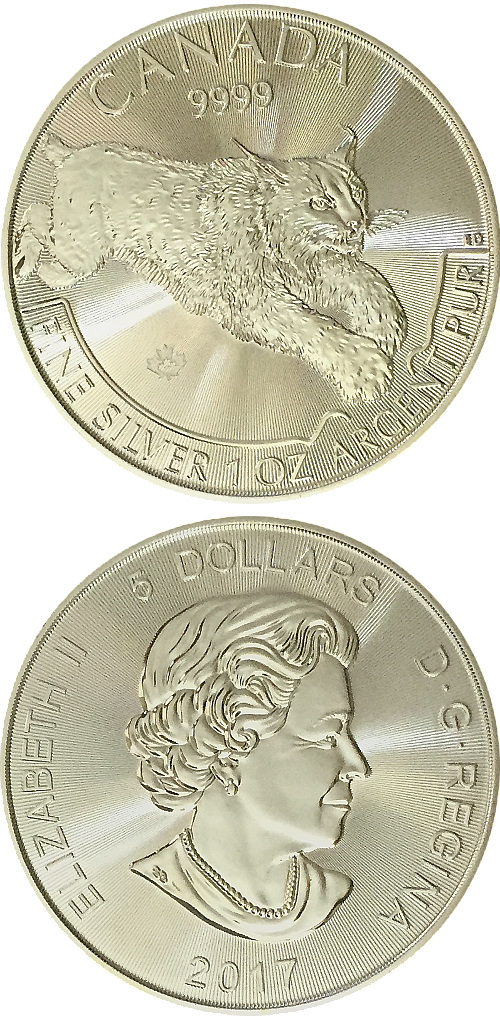 Canadian Lynx 2017 1oz 9999 Silver Coin