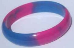 Marble Colours Hard Plastic Bangle Pink Blue - 16mm