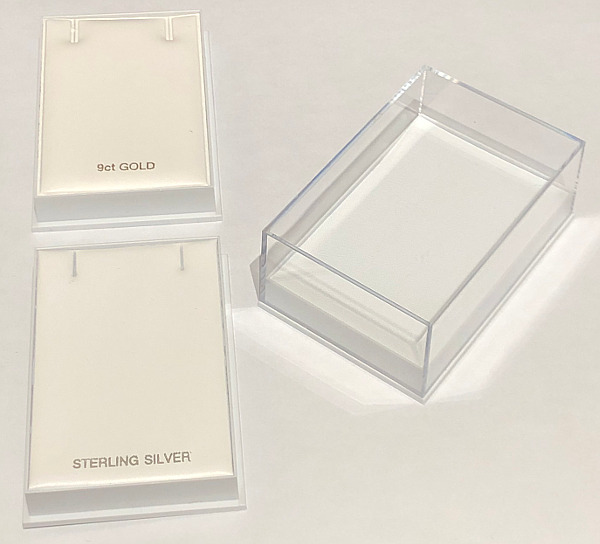 Qty 500 x Large Necklace Box Clear Lid 80x55x32 (33p each)