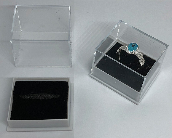 Ring Box with Clear Lid 40x35x32