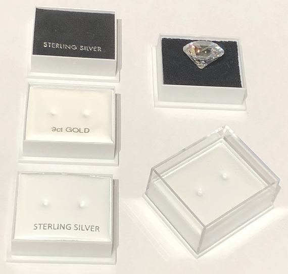 Earring Stud Box with Clear Lid 40x35x20
