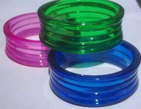 Ribbed Hard Plastic Bangle Large - 28mm