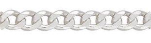 Sterling Silver Round Curb Chain - 510mm