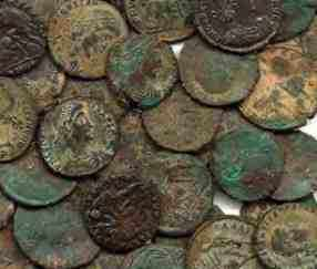 ROMAN COINS Genuine uncleaned Roman Coins