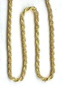 24 inch Gold plated Rope Chain - 610mm