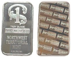 1oz Northwest Territorial Mint Silver Bullion Bar