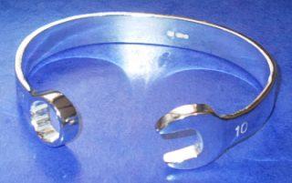 Spanner Bangle Solid Sterling Silver - 10mm