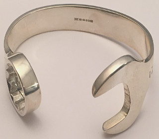 17mm Extra Large Sterling Silver Spanner Bangle