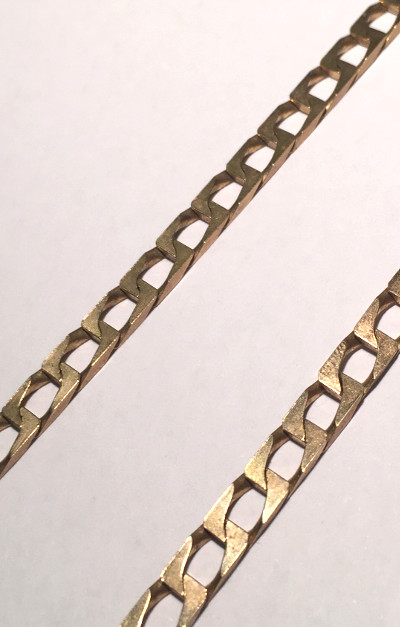 9ct Gold Square Curb 24inch Chain 610mm x 4.5mm wide