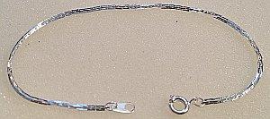 Silver plated Snake Bracelet 190mm