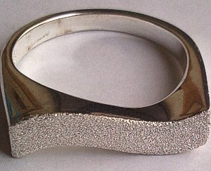 Satin finish Curvy Sterling Silver Ring