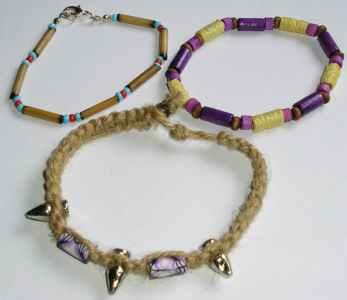 Wood & Beads Bracelets various (Pack of 12)