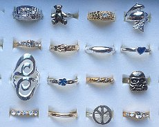 Pack of 120 x Assorted Design Fashion Rings