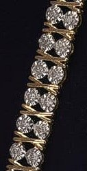 2 Carat Diamond Tennis Bracelet 9ct Gold