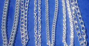 Large 24inch SILVER tone assorted CHAINS (pack of 6)