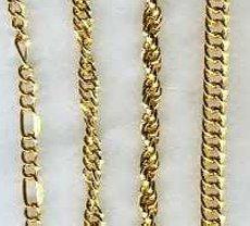 6 x Fancy GOLD tone BRACELETS assorted