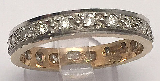 9ct Full Diamond Eternity Ring 0.50 Carat