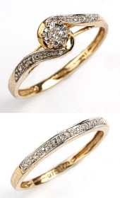 9ct Gold Bridal Set Diamond Rings (set of 2)