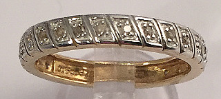 9ct Gold Diamond Full Eternity Ring