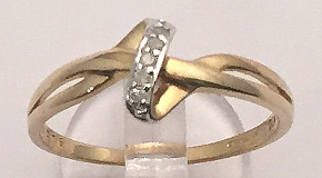 9ct Gold Diamonds Knot Ring 5 stone